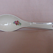 Hall China Blue Bouquet Spoon