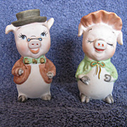 SALE Vintage Lefton Pig Salt & Pepper Shakers