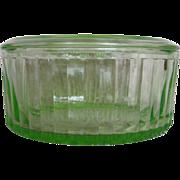 "Anchor Hocking Green Transparent 8"" Refrigerator Dish"