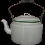 Vintage Enamelware Kettle