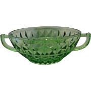 Jeannette Glass Green Windsor Cream Soup