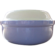 Hall China Company Blue & White Covered Casserole