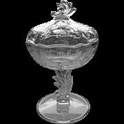Fostoria Glass Chintz Jelly w/Cover
