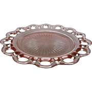 "Depression Glass Old Colony ""Lace Edge"" Luncheon Plate"