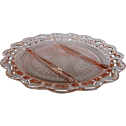 "Depression Glass Old Colony ""Lace Edge"" Relish Plate"