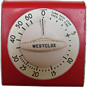 Westclox Lookout Style Kitchen Timer 1950s