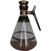 Inland Glass Works Copper Banded Carafe