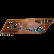 Vintage Wooden Tie or Belt Rack