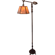 Art Deco Bridge Lamp With Original Mica Shade