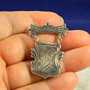 "SOLD WCTU Declamatory Award  Early 1900""s   Sterling"