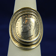 Unusual WWII Australian Coin Ring