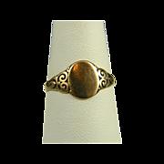 Charming Turn Of The Century 10K Signet Ring