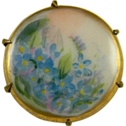SALE Small Hand Painted on Porcelain Pin
