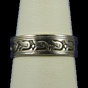 Interesting Patterned Sterling Ring