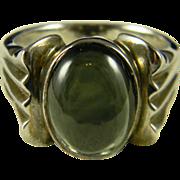 SALE Handsome Men's Tourmaline Sterling Ring