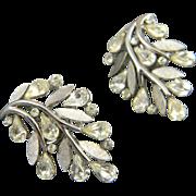 Pretty Mid Century Crown Trifari Earrings