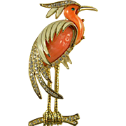 SALE Iconic Hattie Carnegie Heron Brooch