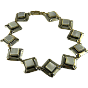 Interesting Sterling And Mother Of Pearl Bracelet