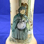Royal Doulton Dickens Ware Vase...Sairy Gamp...1908-1910