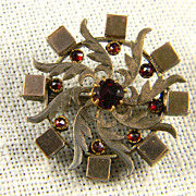 SALE Lovely Victorian Gold Filled Garnet Brooch