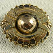 Stunning Victorian Gold Filled Locket Brooch  Circa 1880's