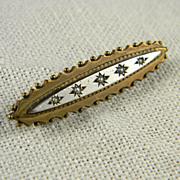 SALE Victorian  Seed Pearl Pin  Circa 1900