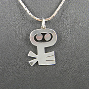 Clever Sterling Pendant With Chain