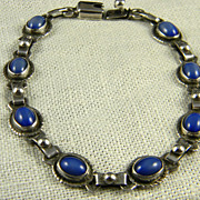 Mexican Sterling Blue Stone Bracelet