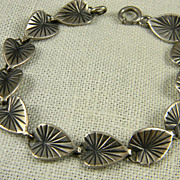 Charming Danecraft Sterling Lily Pad Bracelet