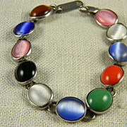 Colorful Mexican Sterling Silver Bracelet