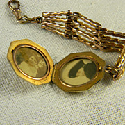 Lovely Gold Filled Watch Fob With Locket