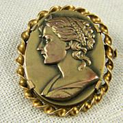 1946 Engraved Paris Pin