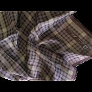 Anne Klein silk scarf plum checkered