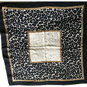 Liz Claiborne animal print black white silk scarf