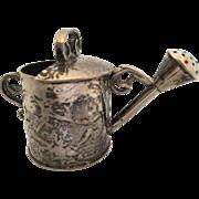 Dutch silver miniature  decorated pail- ANTIQUE