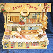 SOLD Antique Open-Air Market Toy BAKERY Stand!