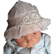 SALE Lovely French Tulle and Soutache Bonnet for Your Antique Doll!