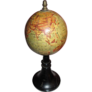 SOLD RARE Miniature World Globe from FRANCE 1890!