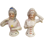 SALE Cyber Monday PAIR of Pin Cushion Half-Dolls!