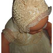 Exquisite French Christening/Baptismal Ensemble for Baby Doll or Real Baby!