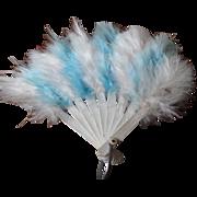 Elegant Miniature Feather Fan from Europe!