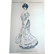 107-Year-Old Original Gibson Girl Postcard!
