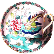 SALE Crown Staffordshire Demitasse in the Roc Bird Pattern