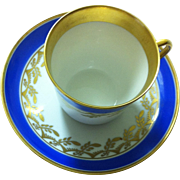 Royal Copenhagen Demitasse with Blue and Gilt Decoration