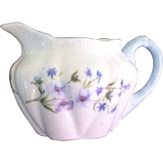 SALE SHELLEY BONE CHINA CREAMER IN THE BLUE ROCK PATTERN (13591)