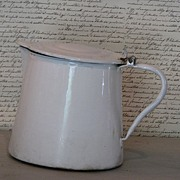 SOLD Vintage French Enamel Pitcher