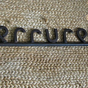 SALE 19th C French Ornate Iron Serrurerie (Locksmith) Key Sign