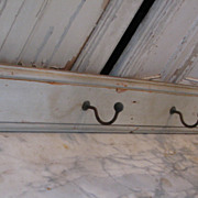 SOLD Country French Antique painted coat hat rack