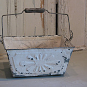 SALE PENDING French vintage metal embossed basket