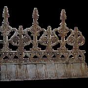 SOLD Antique French Ornamental Iron Ridge Cresting